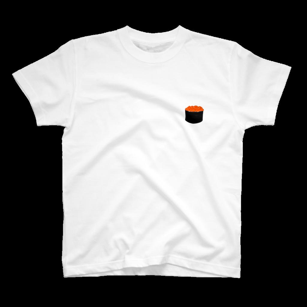 イクラの寿司Tシャツ白