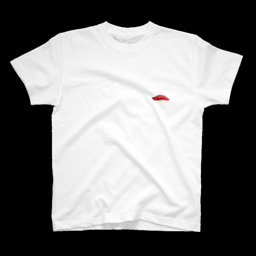 中トロの寿司Tシャツ白