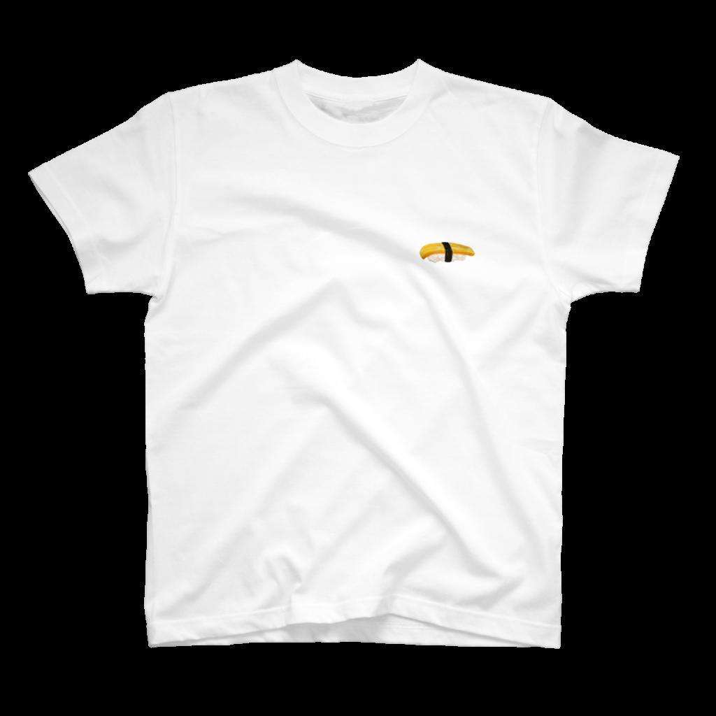 玉子の寿司Tシャツ白