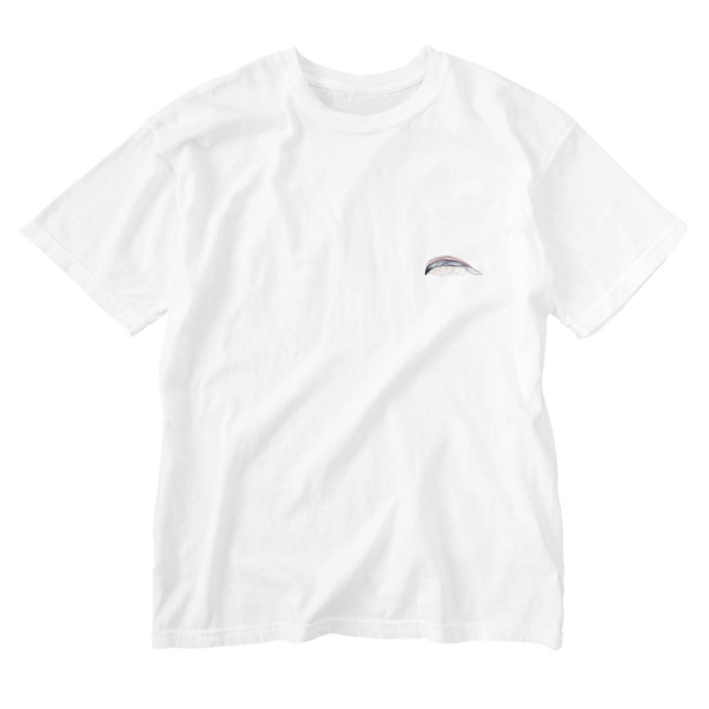 鯖の寿司Tシャツ白